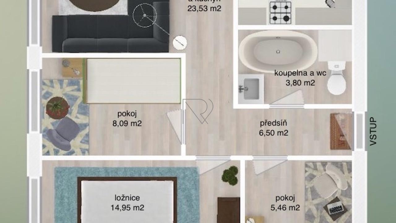 PRAHA - CHODOV, 1 Bedroom ložnice, 3 pokoje pokoje,1 KoupelnaBathrooms,Byty,Prodej,MODLETICKÁ,3,1023