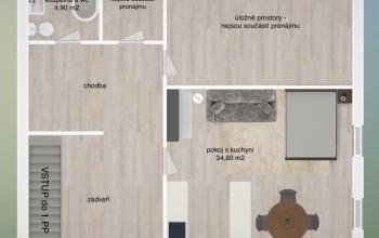 PRAHA 10 - ZÁBĚHLICE, 1 Pokojů pokoje,1 KoupelnaBathrooms,Byty,Pronájem,PIVOŇKOVÁ,1049