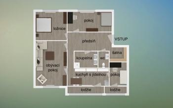 SLUŠTICE, 3 ložnice ložnice, 4 pokoje pokoje,1 KoupelnaBathrooms,Byty,Prodej,3,1001