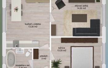 PRAHA 4 - PANKRÁC, 1 Bedroom ložnice, 3 pokoje pokoje,1 KoupelnaBathrooms,Byty,Prodej,Bystřická,2,1009